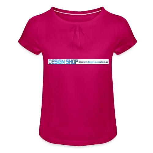 ny logo lang - Jente-T-skjorte med frynser