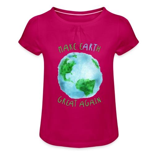 EARTH - Camiseta para niña con drapeado