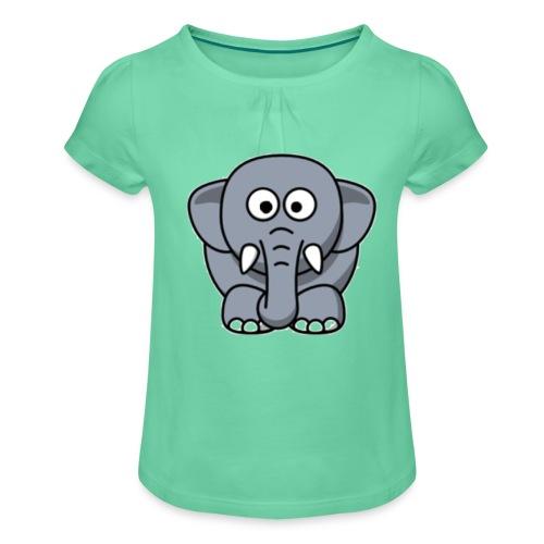 Olifantje - Meisjes-T-shirt met plooien