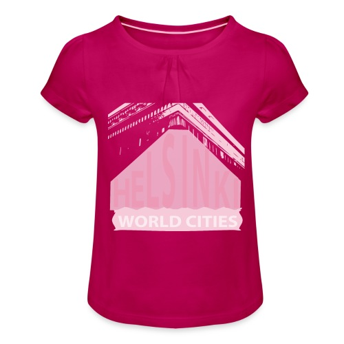 Helsinki light pink - Girl's T-Shirt with Ruffles