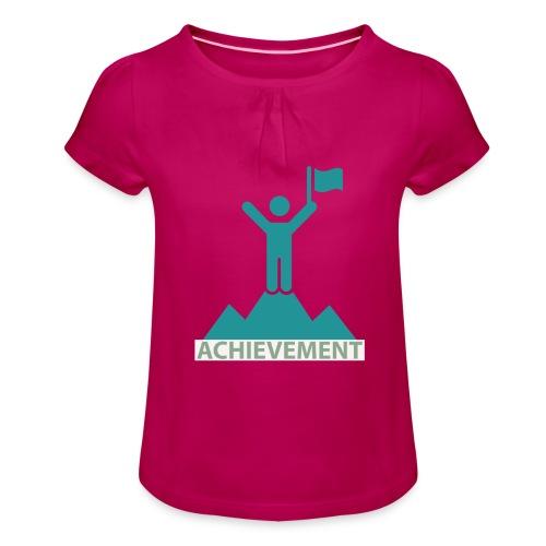 Typo Achiement by CloudMonde - Girl's T-Shirt with Ruffles