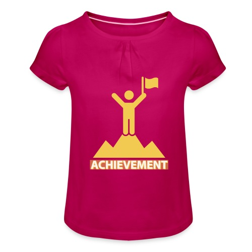 Achievement typo by CloudMonde - Girl's T-Shirt with Ruffles