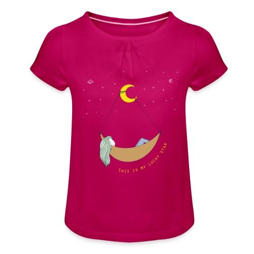 This is my Lucky Star - Mädchen-T-Shirt mit Raffungen