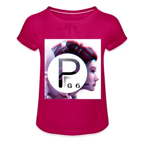Pailygames6 - Mädchen-T-Shirt mit Raffungen