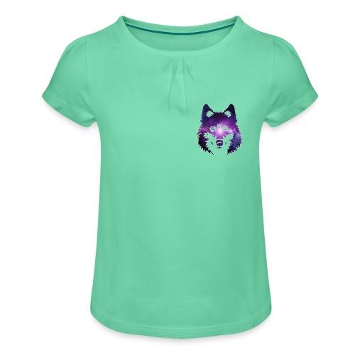 Galaxy wolf - T-shirt à fronces au col Fille