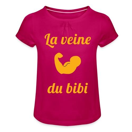 La veine du - T-shirt à fronces au col Fille