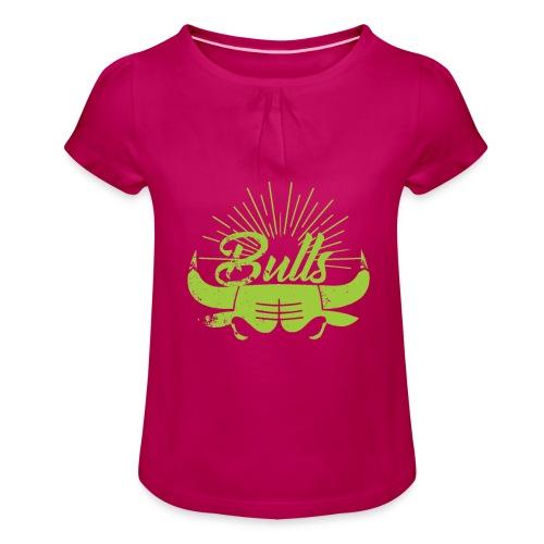 Toros verdes, Bulls BasketBall deporte - Camiseta para niña con drapeado