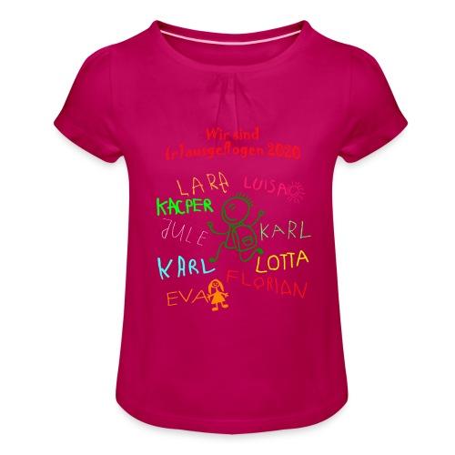 abschluss kita 2020 verbessert - Mädchen-T-Shirt mit Raffungen
