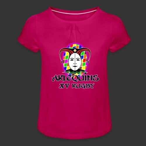 Arlequins Beauvais - T-shirt à fronces au col Fille