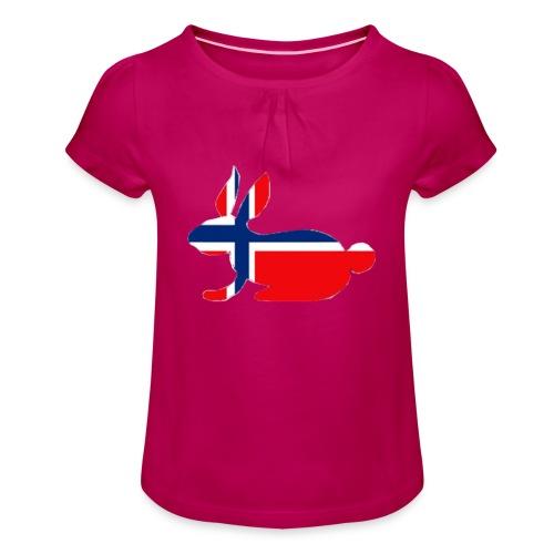 bunny logo - Girl's T-Shirt with Ruffles