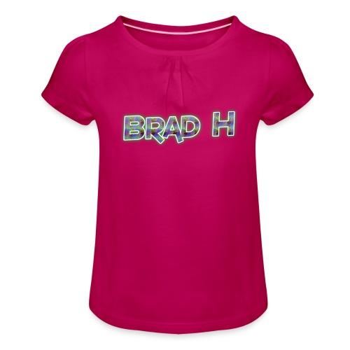 Official Brad H Logo - Girl's T-Shirt with Ruffles