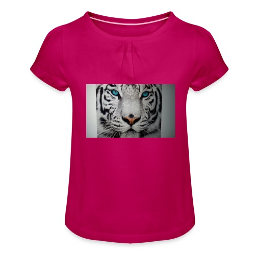 Tiger merch - Girl's T-Shirt with Ruffles