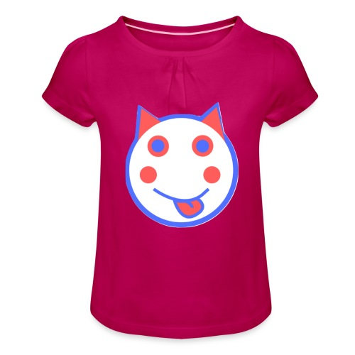 Red White And Blue - Alf Da Cat - Girl's T-Shirt with Ruffles