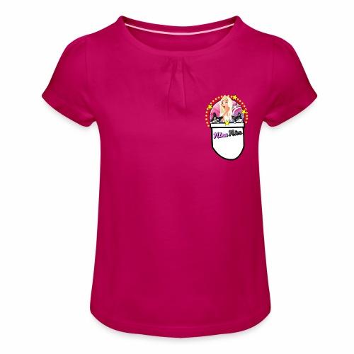 Nina Nice Pocket - Mädchen-T-Shirt mit Raffungen