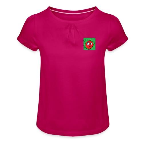 Apple - Camiseta para niña con drapeado