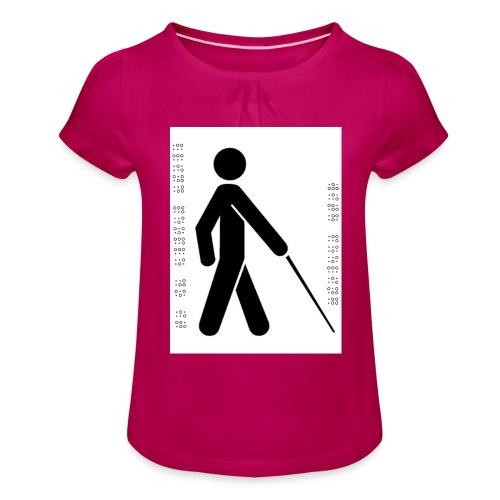 Blind T-Shirt - Girl's T-Shirt with Ruffles