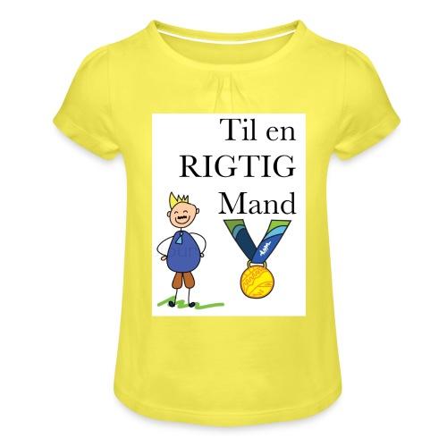 En rigtig mand - Pige T-shirt med flæser