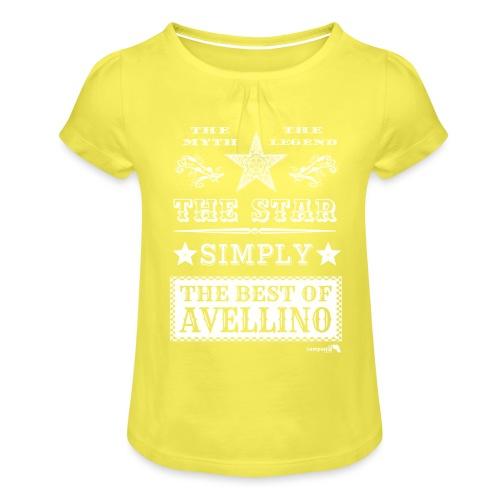 1,03 The Star Legend Avellino Bianco - Maglietta da ragazza con arricciatura
