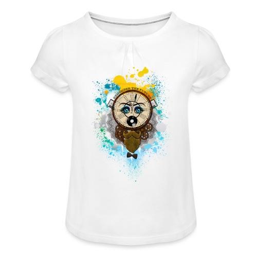 Remember the futur Souviens toi du futur - T-shirt à fronces au col Fille