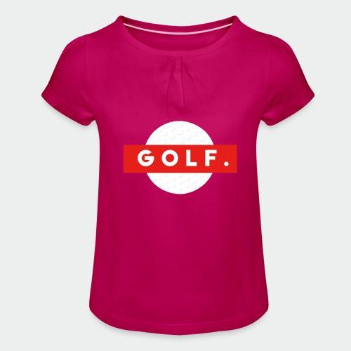 GOLF. - T-shirt à fronces au col Fille