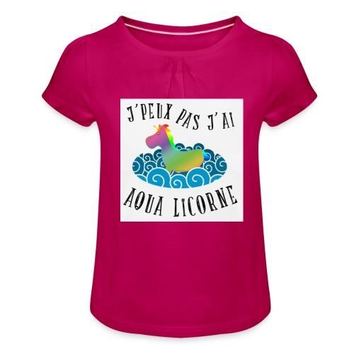 image - T-shirt à fronces au col Fille