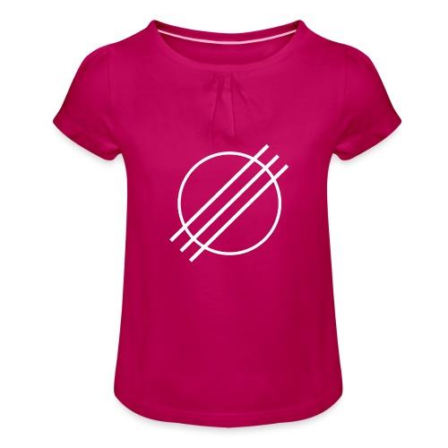 DJ Øyvind Offisiell Logo (hvit) - Jente-T-skjorte med frynser