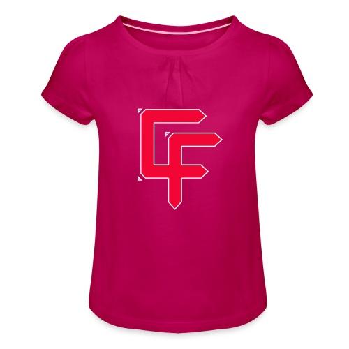 CF Final White Border t shirts - Girl's T-Shirt with Ruffles
