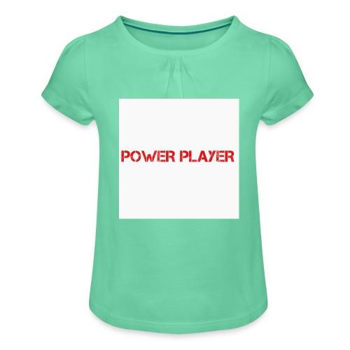 Linea power player - Maglietta da ragazza con arricciatura