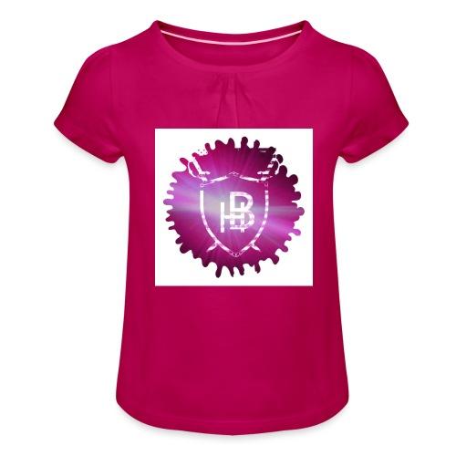 Hustler Brand - T-shirt à fronces au col Fille