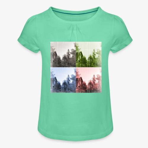 Torppa - Tyttöjen t-paita, jossa rypytyksiä