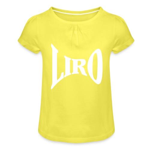 Wide Geometry Logo - Meisjes-T-shirt met plooien
