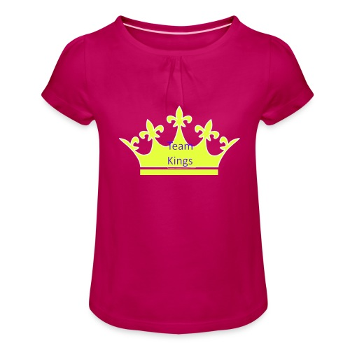 Team King Crown - Girl's T-Shirt with Ruffles