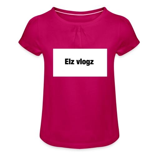 Elz vlogz merch - Girl's T-Shirt with Ruffles