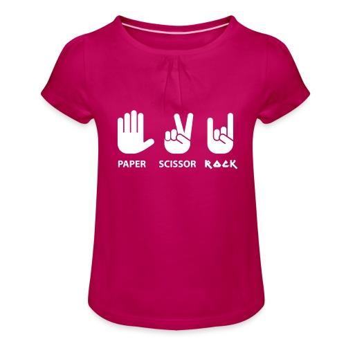 papier ciseaux roche c - T-shirt à fronces au col Fille
