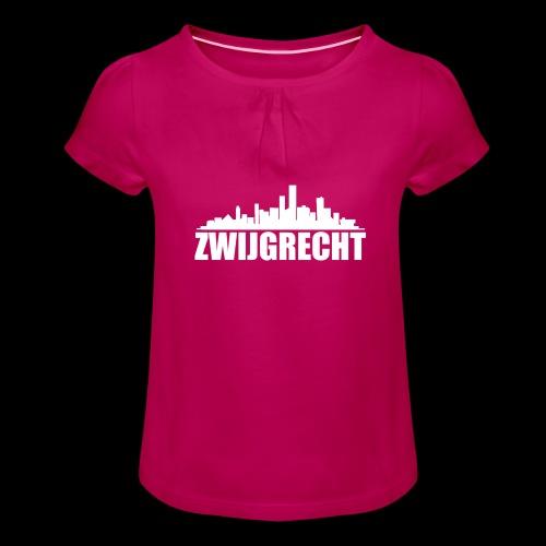 Zwijgrecht - Meisjes-T-shirt met plooien