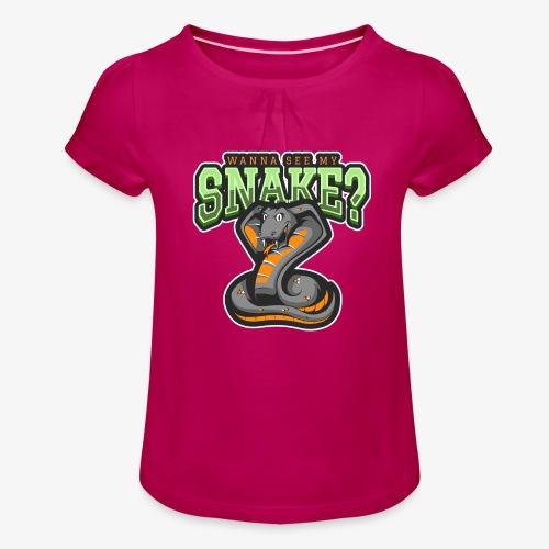 Wanna see my Snake III - Tyttöjen t-paita, jossa rypytyksiä