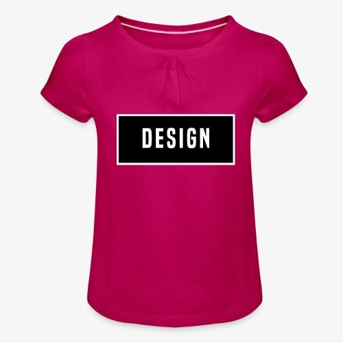 design logo - Meisjes-T-shirt met plooien