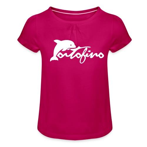 portofino 2019 WHITE - Girl's T-Shirt with Ruffles
