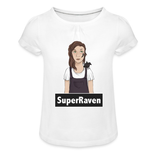 SuperRaven - Girl's T-Shirt with Ruffles