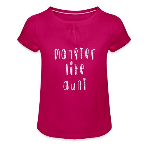 Aunt - Tyttöjen t-paita, jossa rypytyksiä