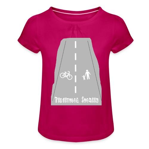 Tervetuloa Suomeen - Tyttöjen t-paita, jossa rypytyksiä