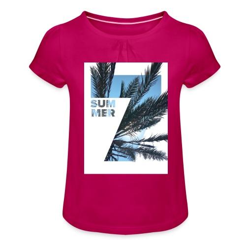 Summertime - Meisjes-T-shirt met plooien