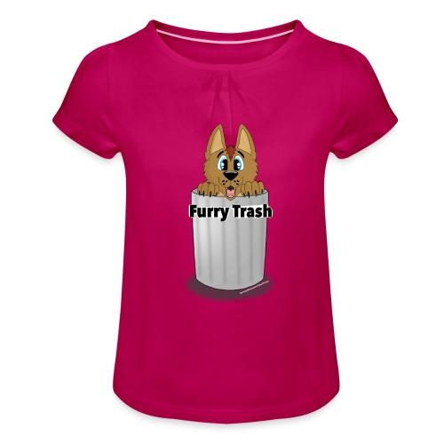 Furry Trash - Pige T-shirt med flæser