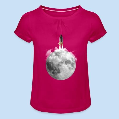 Mondrakete - Mädchen-T-Shirt mit Raffungen