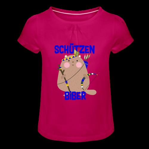 Schützenfest Biber Biberach Biberacher Schützen - Mädchen-T-Shirt mit Raffungen