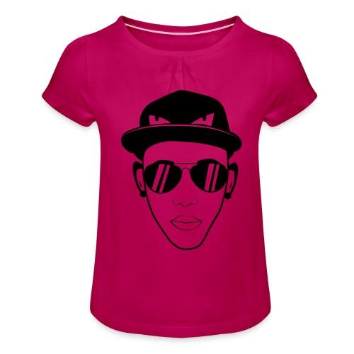 adhex cara - Camiseta para niña con drapeado