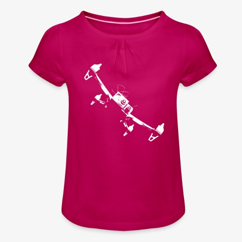quadflyby2 - Girl's T-Shirt with Ruffles