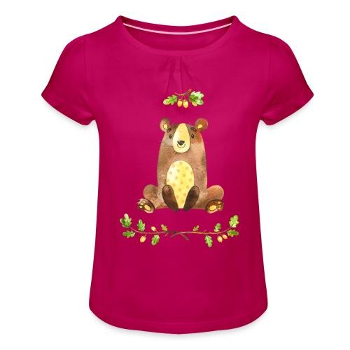 Forest1 - Meisjes-T-shirt met plooien