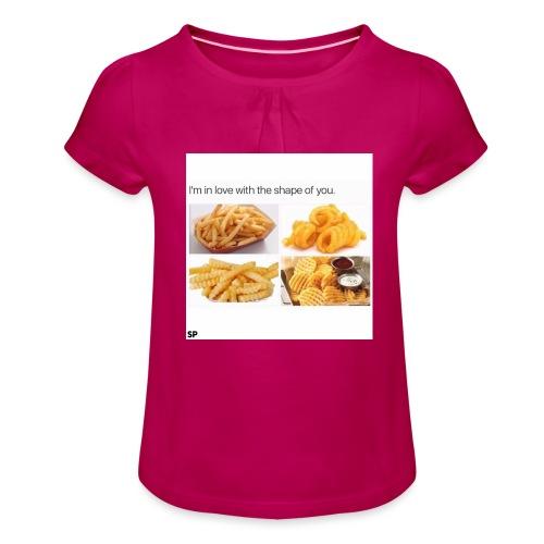 Shape - Mädchen-T-Shirt mit Raffungen