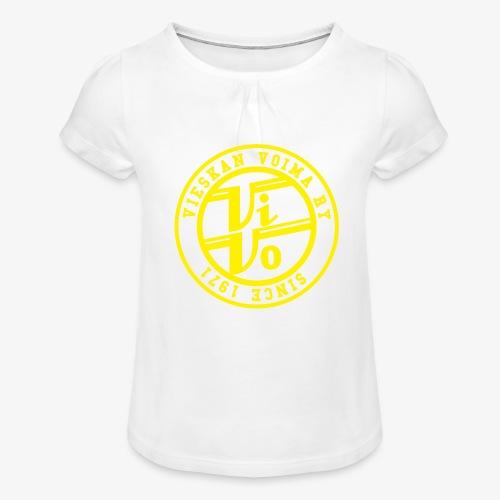 ViVoPAITA transparent - Tyttöjen t-paita, jossa rypytyksiä